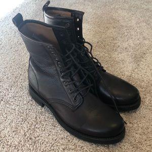 Frye Veronica Combat Boots Size 8, Dark Brown